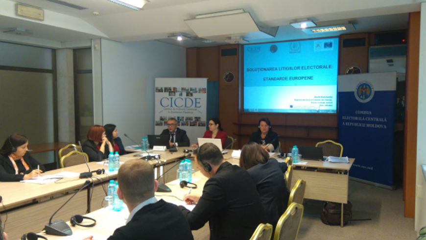 Seminar on electoral dispute resolution in the Republic of Moldova